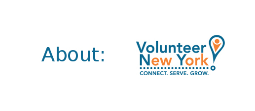 "Text image:  ""About:  Volunteer New York!"""